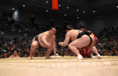 """Watch a game of Sumo - The sport originated in Japan, the only country where it is practiced professionally. If you're in Japan during non-tournament season, then check out sumo training sessions in the morning at a """"beya"""" (sumo stable.) If you're in Tokyo during the months of January, May and September, you'll be able to catch a grand tournament at Tokyo's National Sumo Hall, Ryogoku Kokugikan ($20/admission fee.) METRO STATION: Ryogoku station/Sobu line. (Photo credit: Twitter@sumokyokai/)"""