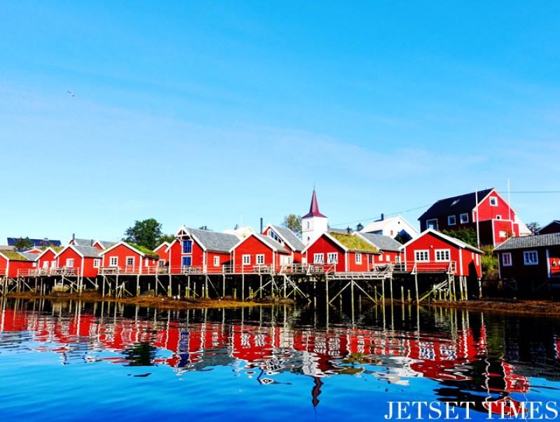 Lofoten Islands Norway river houses