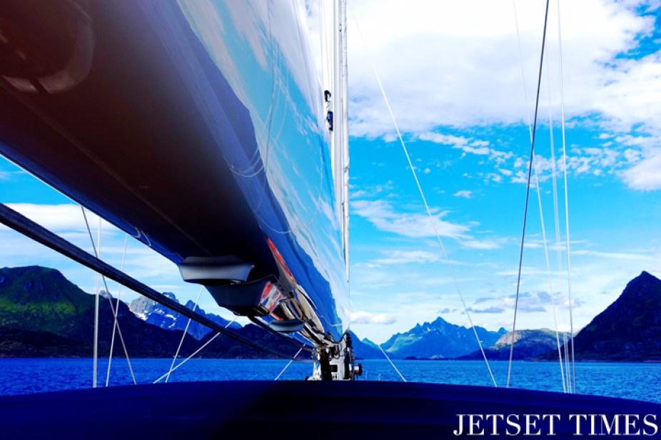 Lofoten Islands Norway sailboat