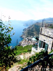 Profile view of the Cinque Terre coast