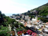 View from terrace of Cinque Terre Residence in Riomaggiore