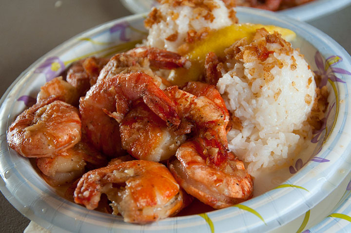 Hawaii food shrimp scampi