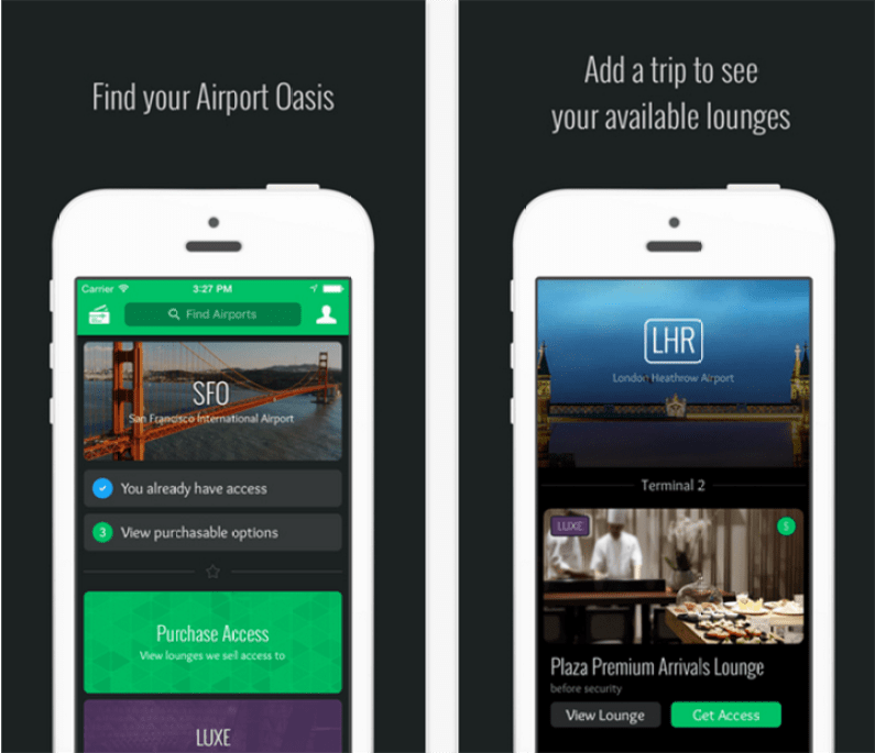 LoungeBuddy travel app copy