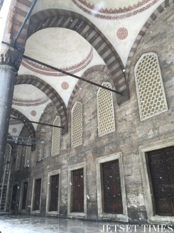 11. The exterior halls of the Blue Mosque.