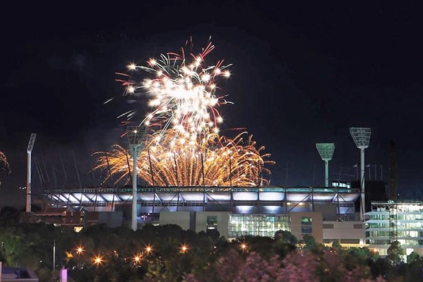 Facebook Melbourne Cricket Ground (MCG) fireworks