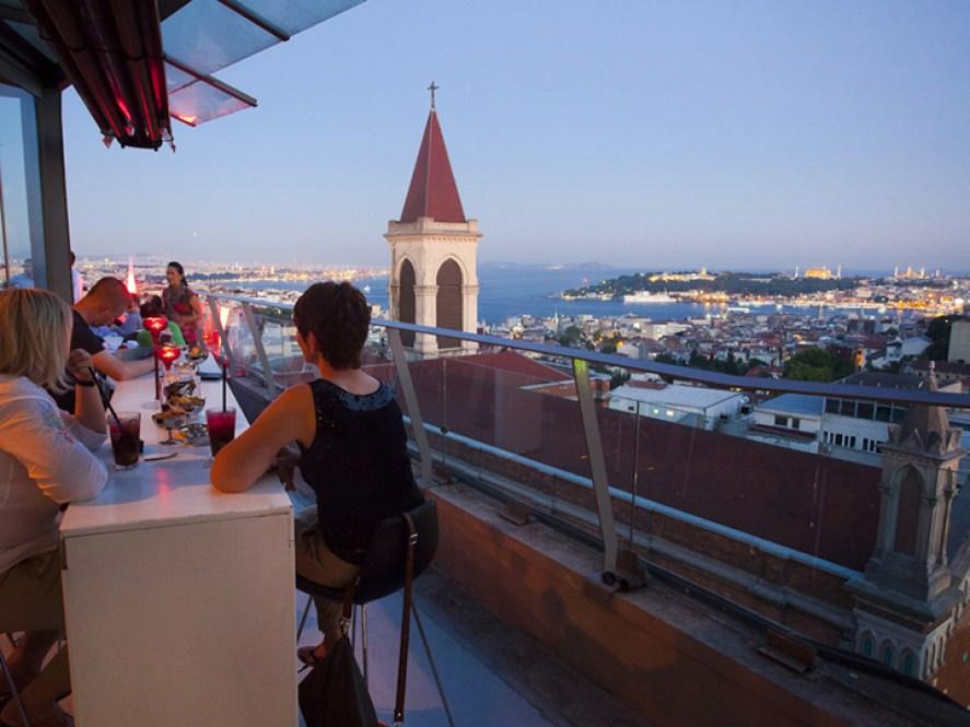 360 Istanbul Turkey outdoor bar