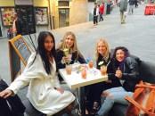 Meeting new friends at Riomaggiore.