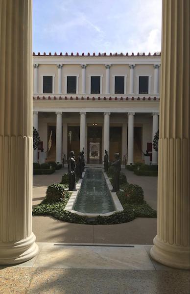The Getty Villa Walkway
