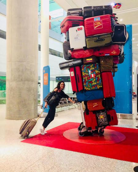 Suitcase Sculpture
