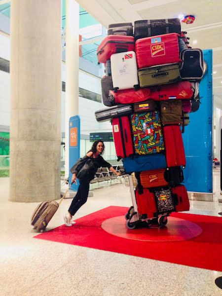 Suitcase Sculpture