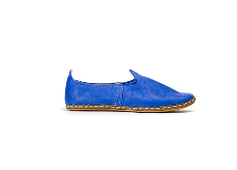 Casual Leather Slip On Shoes for Men & Women - Nalu's in Royal Blue