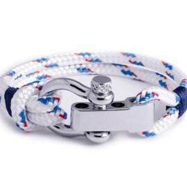 Regatta - White Shackle Bracelet for Men & Women