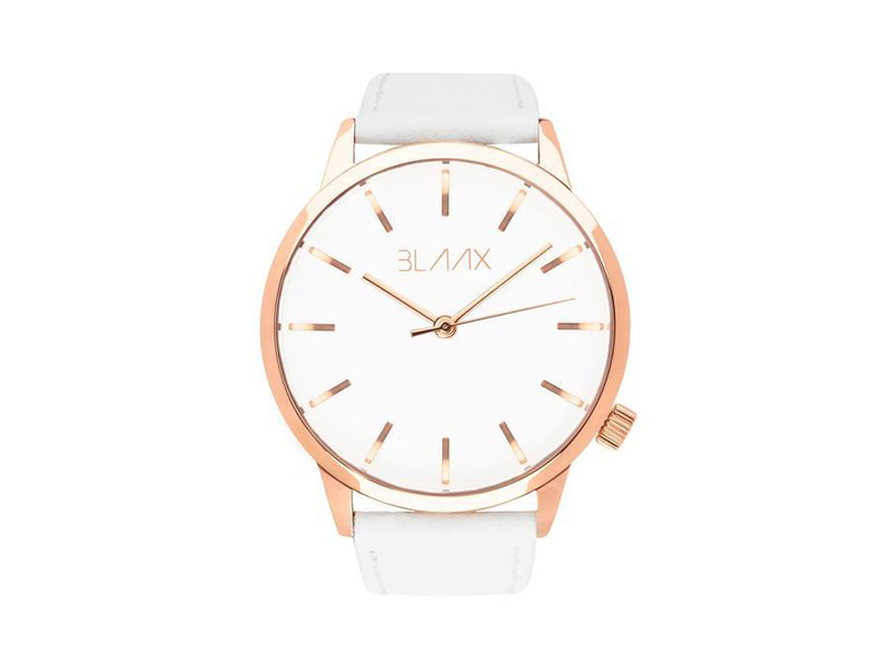 Women's White Leather Watch - White Rose