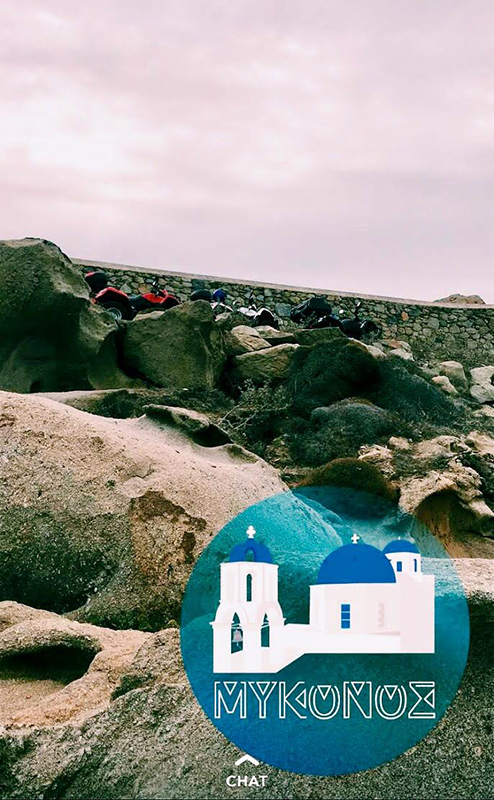 Mykonos geofilter.