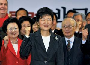 South Korea elects its first female president, Park Geun-hye. A few years later she is impeached.