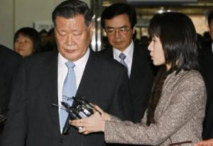Head of the largest South Korean car maker, Hyundai, is jailed for three years for embezzlement.