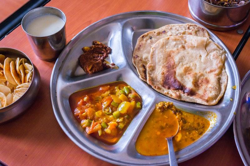 Dal Bhat Rotli Shaak