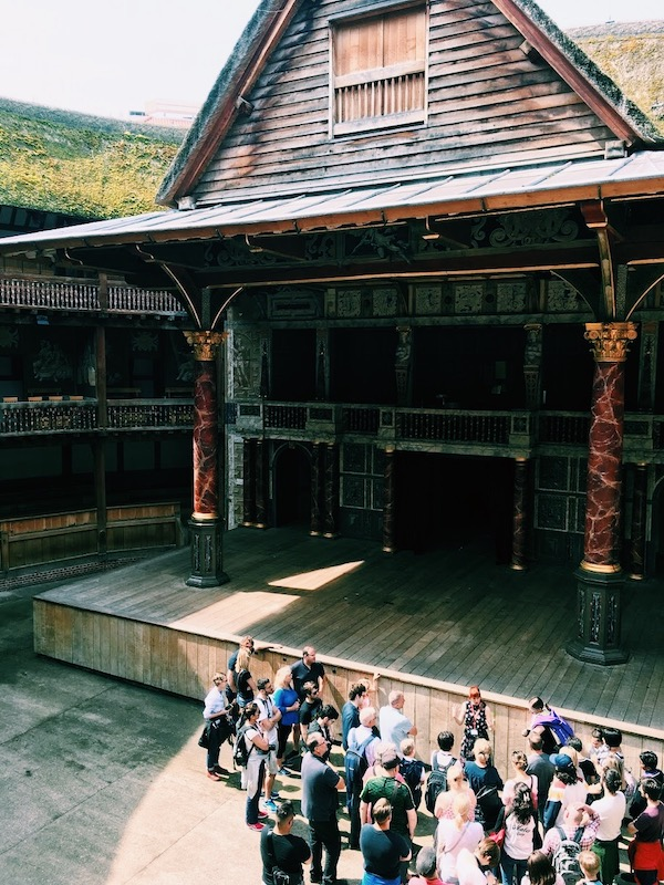 Globe Theatre overhead stage view