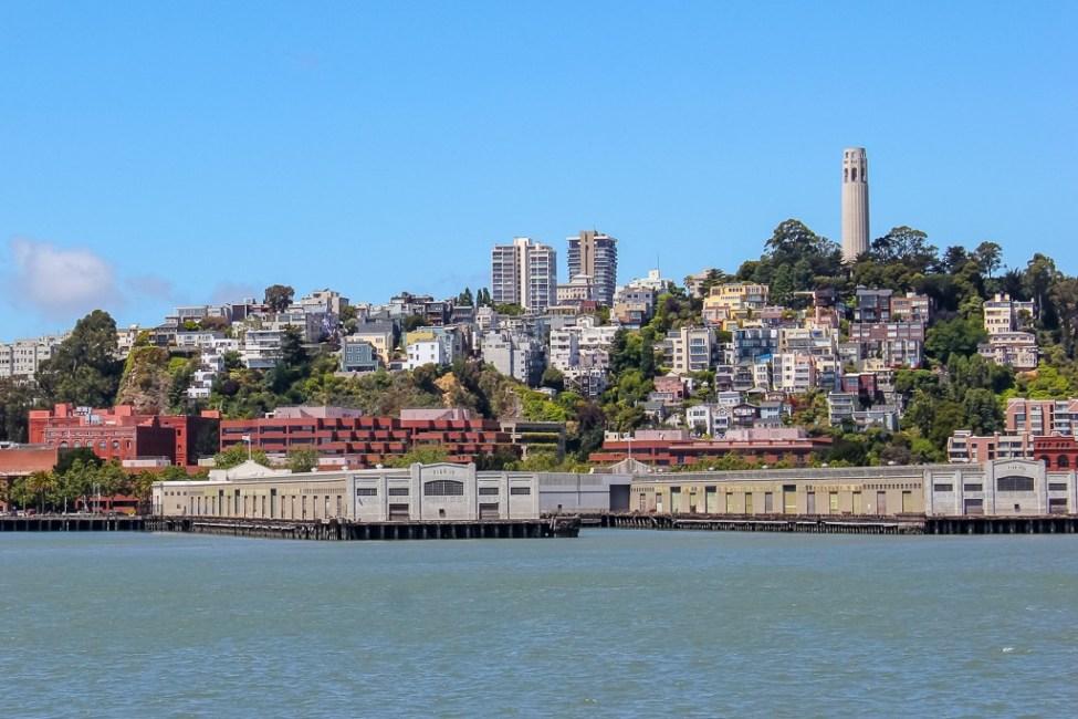 Coit Tower and neighborhood, San Francisco, California