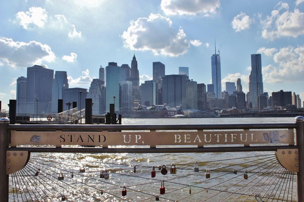 Lower Manhattan skyline view from Brooklyn Bridge Park New York City NYC JetSettingFools.com