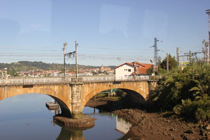 Crossing from Spain into France in Basque Country