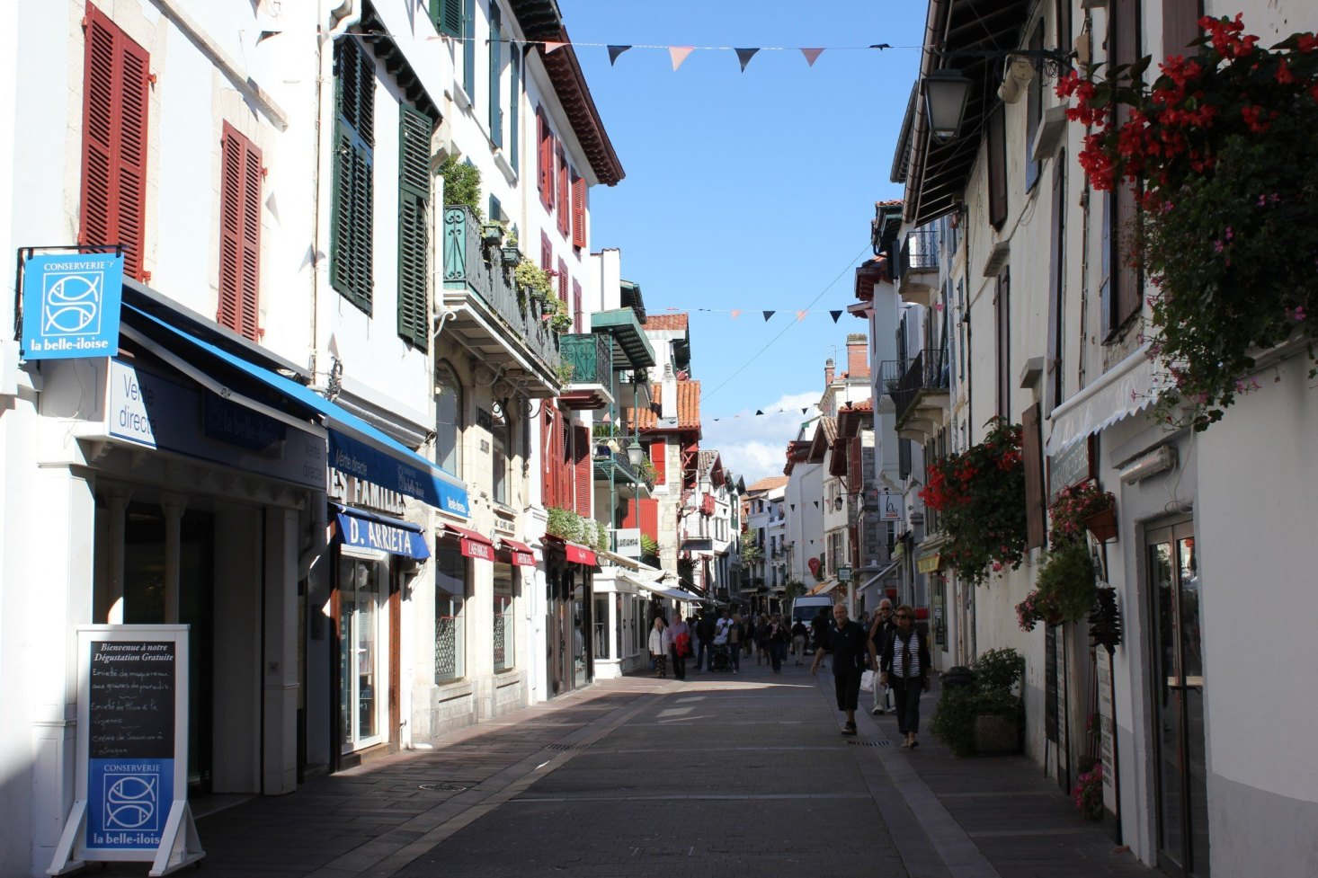 Pretty lane in St. Jean de Luz, France