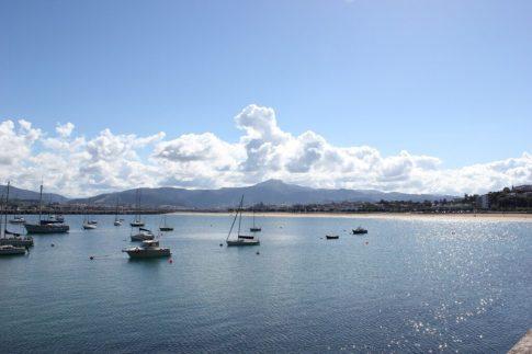 Boats in fishing port in Hondarribia, Spain