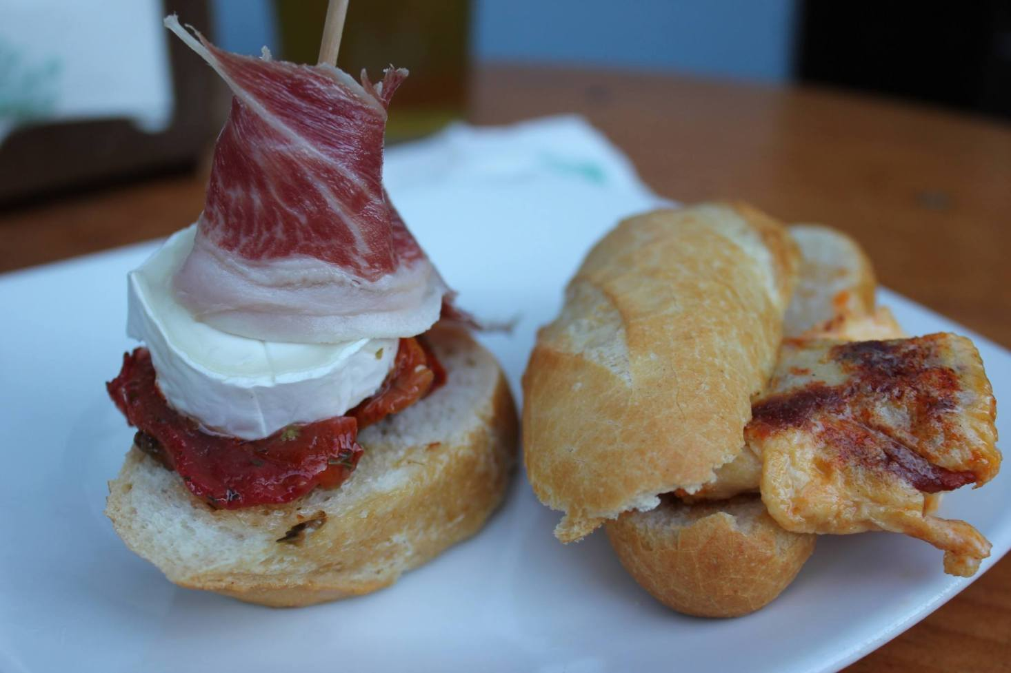 Hand-crafted pintxos in Hondarribia, Spain