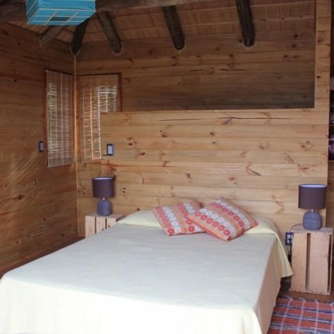 Loft bedroom in Beach Cabin in Punta del Diablo, Uruguay