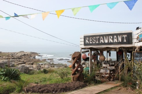 Beachfront restaurant in Punta del Diablo, Uruguay
