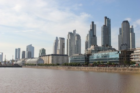 High rises in the Puerto Madero district in Buenos Aires, Argentina