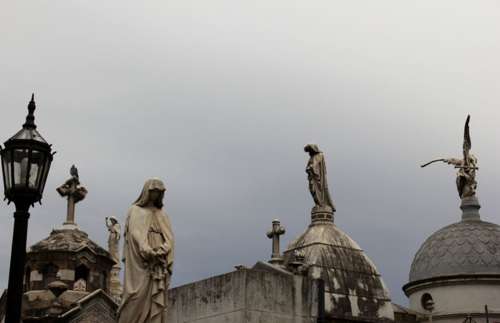 Statues in Recoleta Cemetery in Buenos Aires, Argentina