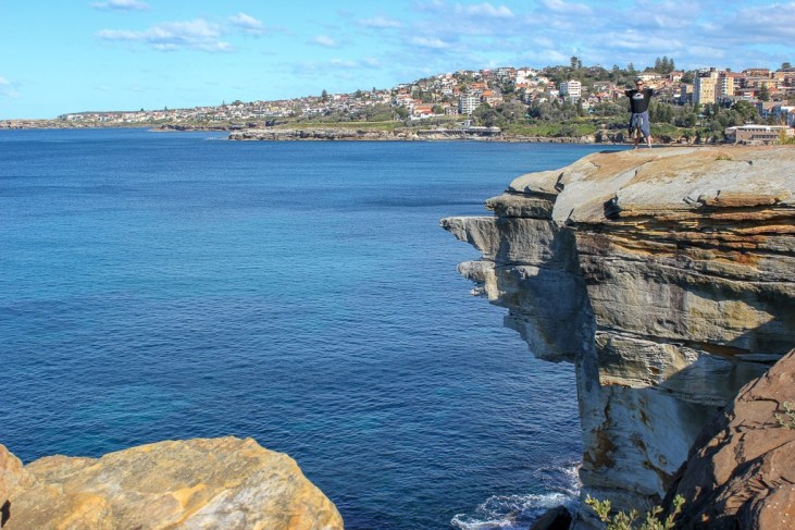 Cliffs at Dolphins Point on the route from Bondi to Coogee in Sydney, Australia