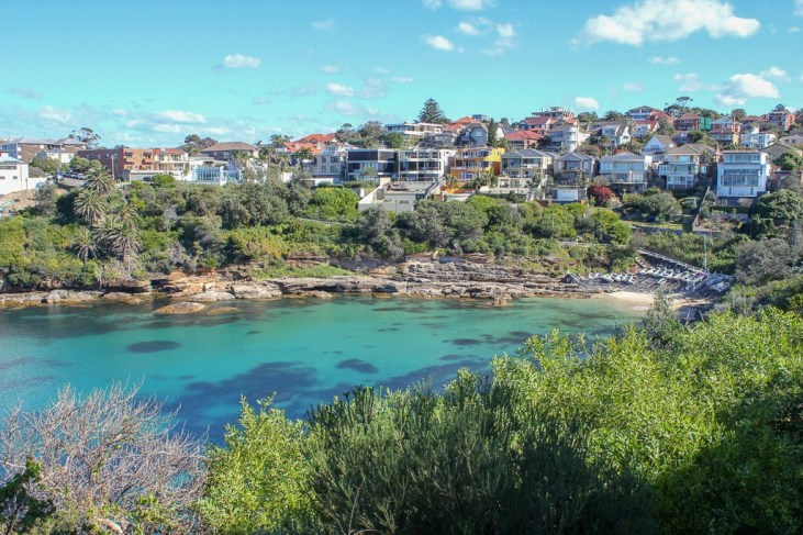 Turquoise water at Gordons Bay on Coogee to Bondi Walk in Sydney, Australia