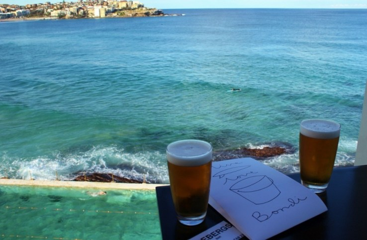 View from Bondi Icebergs Bar in Bondi Beach, Sydney, Australia