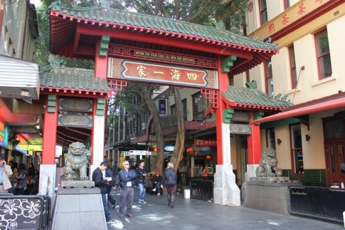 Gates to Chinatown in Sydney, Australia