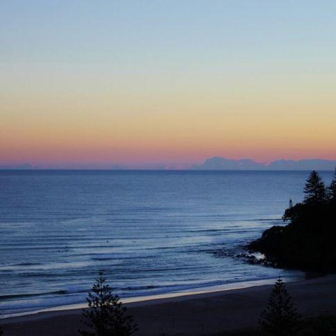 Coolangatta Beach at Dawn, Coolangatta, Gold Coast, Australia