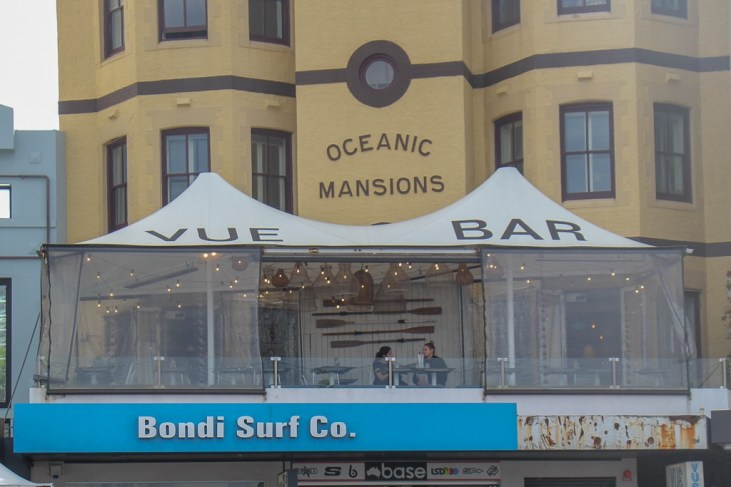 Balcony of Vue Bar on Bondi Beach, Sydney, Australia