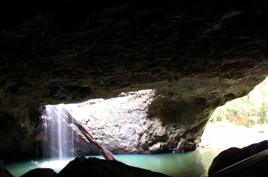 The waterfall through Natural Bridge