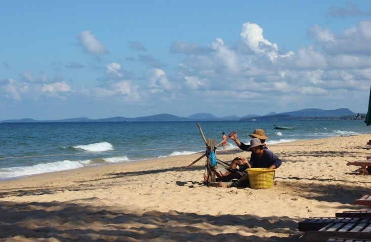 Fisherman on Long Beach, Phu Quoc, Vietnam