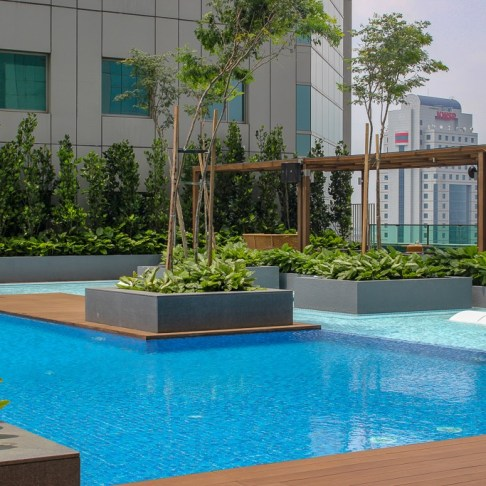 Rooftop pool at Doubletree by Hilton Johor Bahru, Malaysia