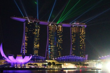 Marina Bay Sands Laser Light Show in Singapore