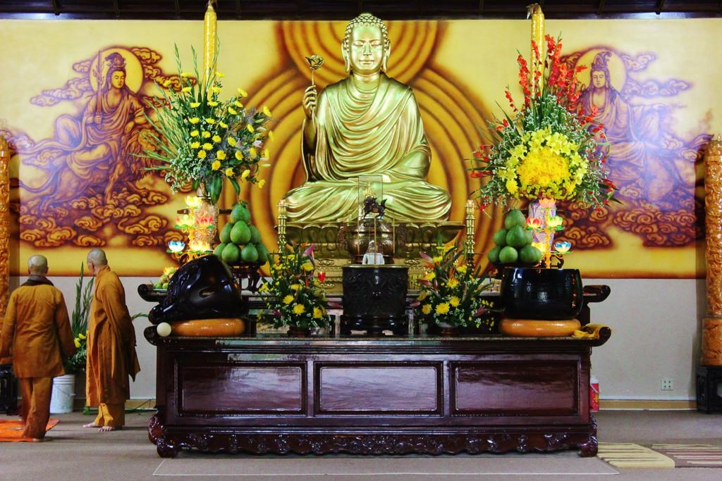 Buddha Statue at Truc Lam Pagoda in Dalat, Vietnam