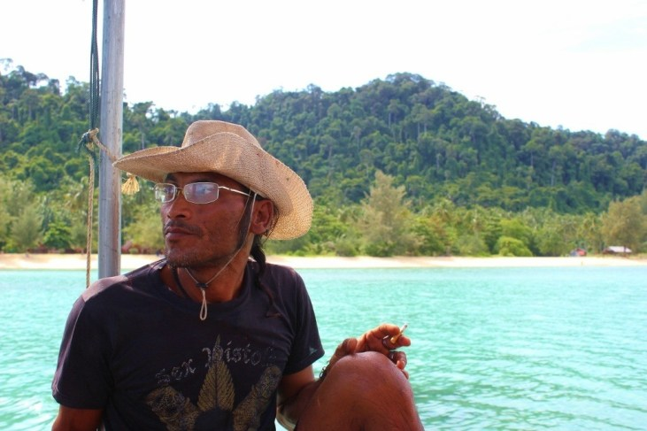 Our Longtail boat captain on our Four Island Tour from Koh Lanta, Thailand