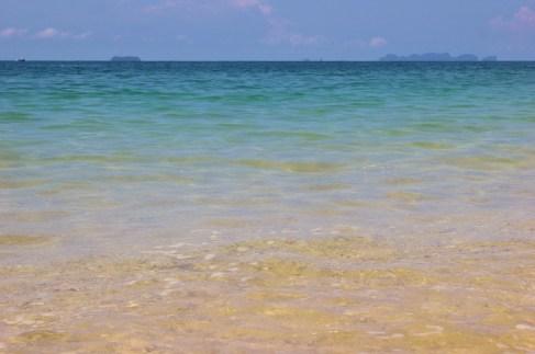 Pale blue sea at Phra Ae Long Beach in Koh Lanta, Thailand