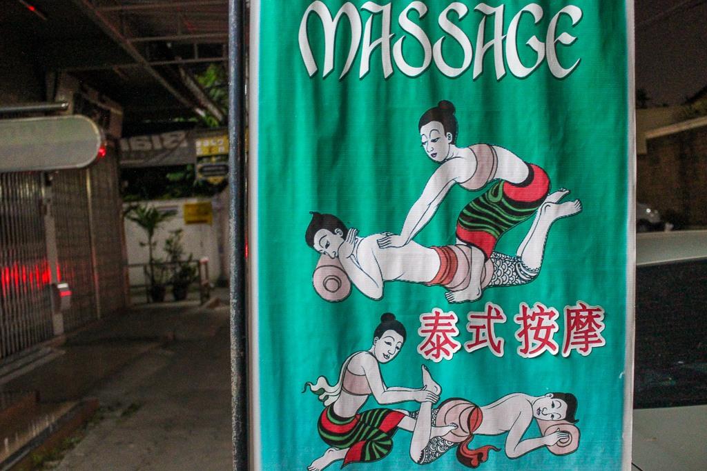 Thai Massage sign in Chiang Mai, Thailand