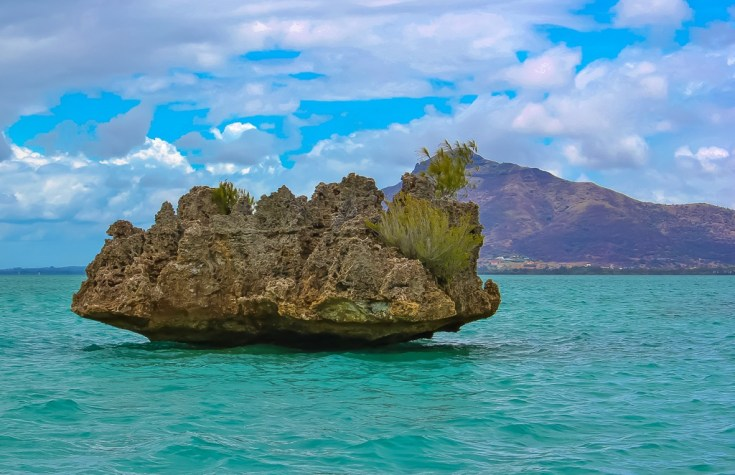 Iconic Crystal Rock in Mauritius