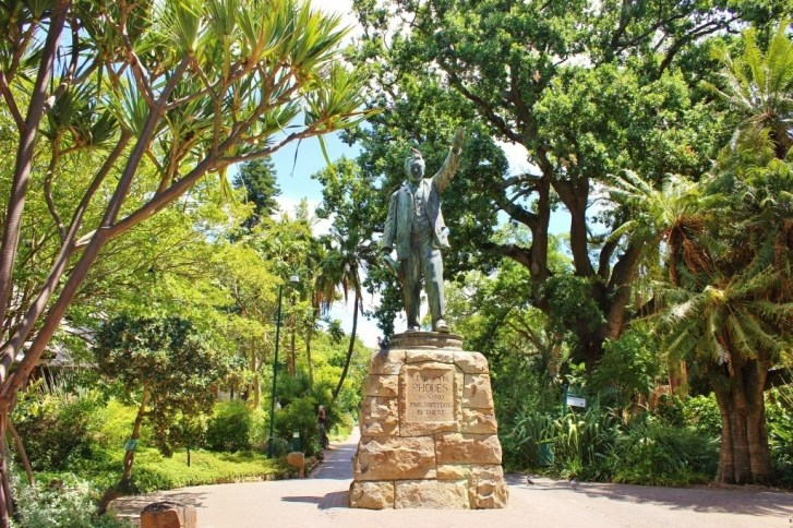 The Company's Gardens Cecil Rhodes Statue in Cape Town, South Africa