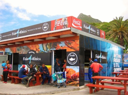 Fish and Chips shack Fish 4 Africa in Hout Bay, Cape Town, South Africa