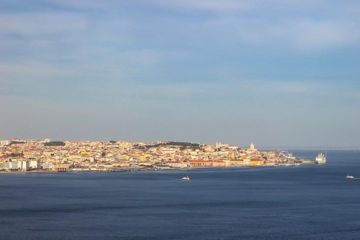 Views of Alfama from Cristo Rei Lisbon, Portugal
